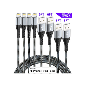 Pack Of 4 Lightning Cables