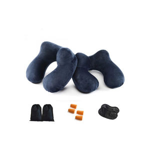 2 Pack Travel Pillow Bundle Sets