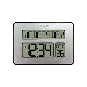 La Crosse Technology Atomic Full Calendar Clock With Extra Large Digits