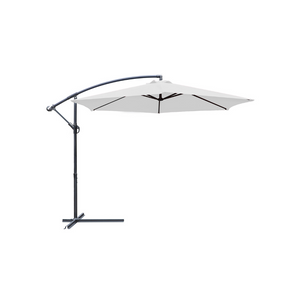 10-Foot Offset Outdoor Patio Umbrella with Steel (2 Colors)