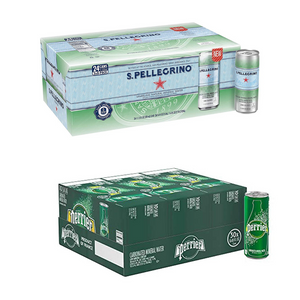 24 Cans Of  S.Pellegrino Or 30 Cans Of Perrier On Sale