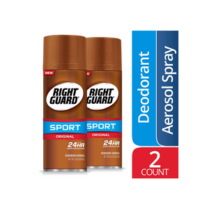 2 Bottles Of Right Guard Sport Original Deodorant Aerosol Spray