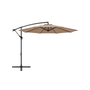 10ft Offset Hanging Outdoor Market Patio Umbrella With Easy Tilt (5 Colors)
