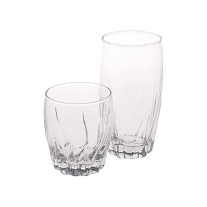 Set Of 16 Anchor Hocking Central Park Small And Large Drinking Glasses