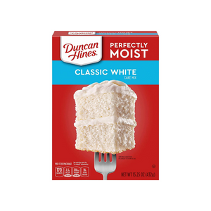 12 Boxes Of Duncan Hines Perfectly Moist Classic White Cake Mix