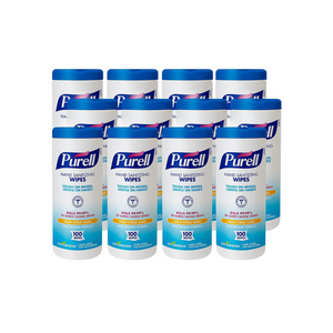 12 Bottles Of Purell Hand Sanitizing Wipes