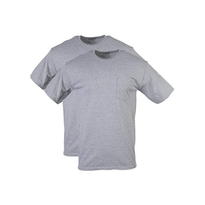 2 Gildan Men's DryBlend Workwear T-Shirts with Pockets
