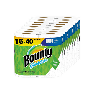 16 Family (40 Regular) Rolls Of Bounty Quick-Size Paper Towels