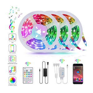 50 Foot LED Strip Lights With App And Music Sync