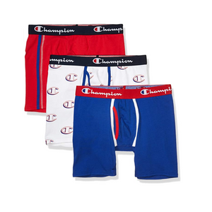 3 Champion Men's Everyday Comfort Cotton Stretch Boxer Briefs