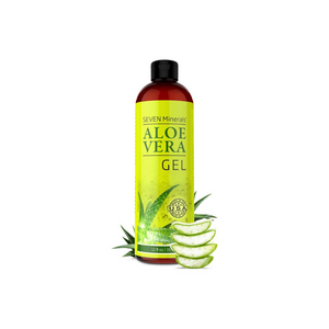 Organic Aloe Vera Gel with 100% Pure Aloe From Freshly Cut Aloe Plant, Not Powder