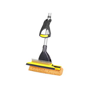 Mop With Squeegee and Extendable Telescopic Long Handle