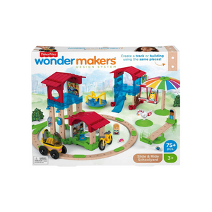 Fisher Price Wonder Makers Slide & Ride Schoolyard Play Set
