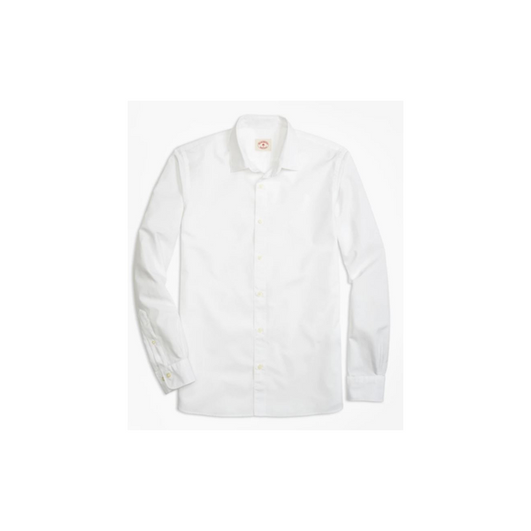 Brooks Brothers Men's Nine-To-Nine Spread Collar Wrinkle-Free Dress Shirt