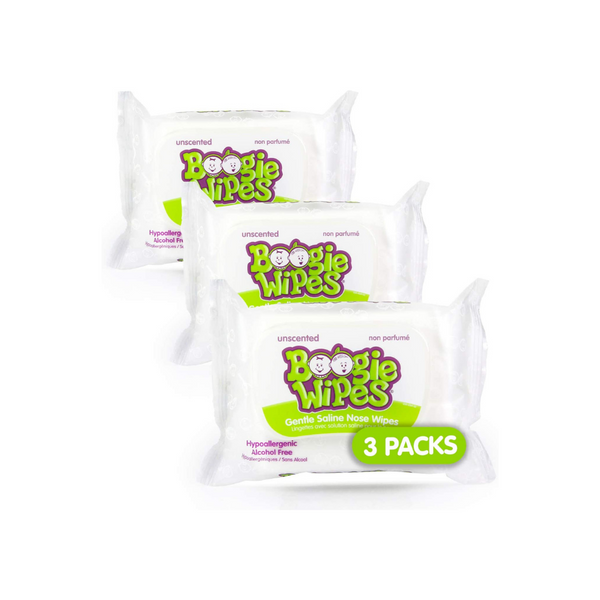 3-Pack of 30-Ct Boogie Wipes (Unscented Wet Wipes)