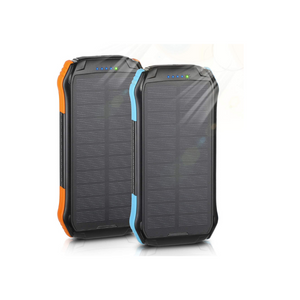 2 Pack Outdoor Solar Panel Power Bank 12000mAh