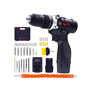 Cordless Drill with 2 Batteries And 100 Accessories