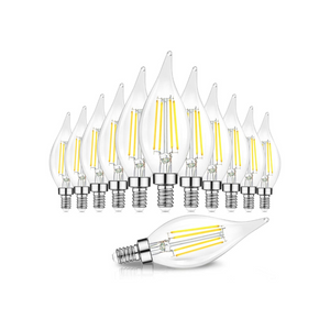 12 Dimmable E12 Candelabra LED Bulbs