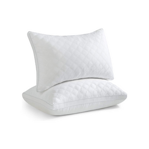 2 Queen Down Alternative Pillows With 4 Pillowcases