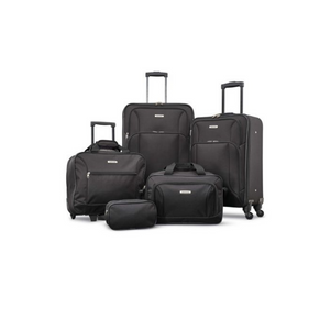 American Tourister Five-Piece Spinner Luggage Set (3 Colors)