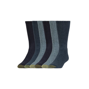 6-Pack Gold Toe Men's Harrington Crew Socks