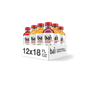 12 Bottles Of Bai Rainforest Water Variety Pack