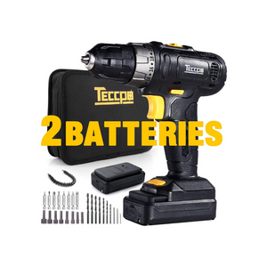 Cordless Drill With 2 Batteries And Accessories