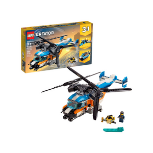 569-Piece LEGO Creator 3-In-1 Twin Rotor Helicopter Building Set