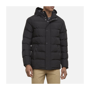 Kenneth Cole Hooded Channel Quilted Coat (2 Colors)