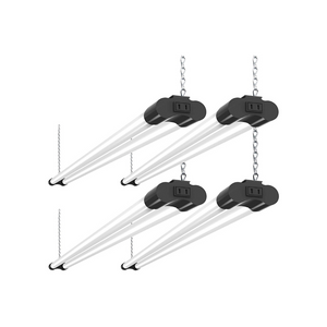 4 Linkable 4 Foot LED Utility Shop Lights