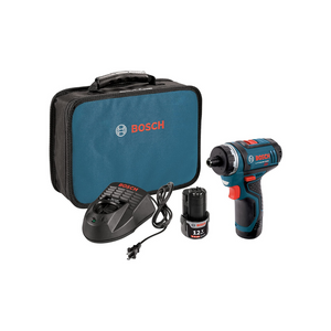 Bosch 2 Speed Pocket Driver Kit With 2 Lithium-Ion Batteries, A Charger, And Case