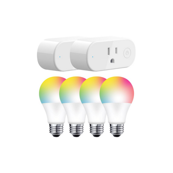 4 Smart Bulbs With 2 Smart Plugs