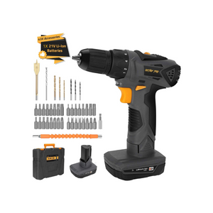 43 Pcs Cordless Drill Driver and Electric Screwdriver Set