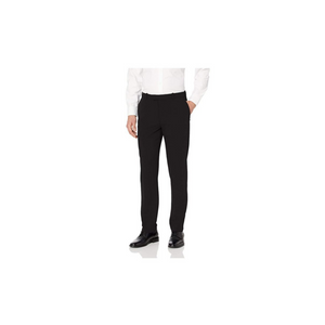 Van Heusen Men's Flex Straight Fit Flat Front Black Pants