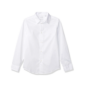 Calvin Klein Boys' Slim Fit Button Down Dress Shirt (4 Colors)