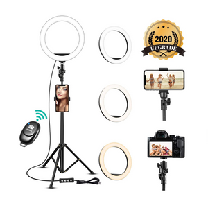 8'' Selfie Ring Light with Adjustable Tripod Stand