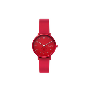 Skagen Aaren Colored Silicone Quartz Minimalistic 36mm Watch