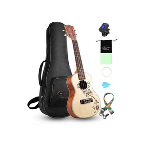 Professional Ukulele for Beginners with Bag, Digital Tuner, Strap And More