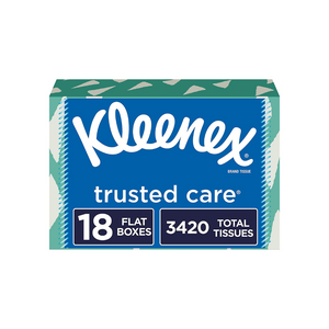 18 Boxes Of 190 Kleenex Trusted Care Facial Tissues