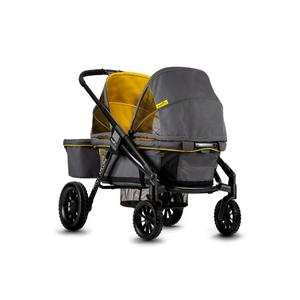 Evenflo Pivot Xplore Double Stroller Wagon, All-Terrain, Adventurer Gray