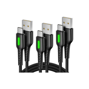 3 Fast Charging USB Type C Cables