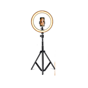 "10"" Selfie Ring Light with Adjustable Tripod Stand and Phone Holder"