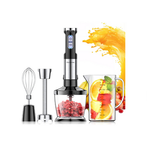 Powerful Hand Immersion Blender with Large Mixing Beaker