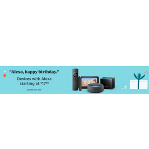Alexa Device Birthday Sale! Huge Savings On Ring, Echo Devices, Fire TV Sticks And More