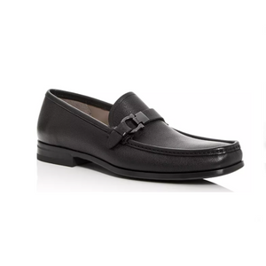 Salvatore Ferragamo Men's Leather Moc-Toe Loafers
