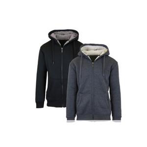 2 Sherpa Lined Fleece Hoodies