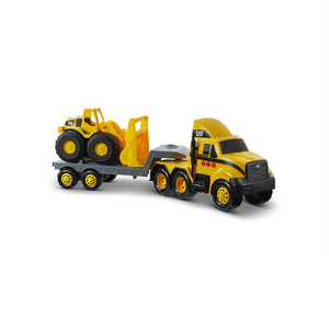 Caterpillar Toy Semi Truck and Trailer with Lights & Sounds