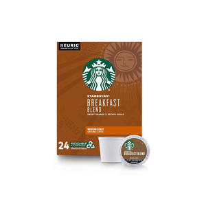 24 Starbucks Breakfast Blend Coffee K-Cup Pods