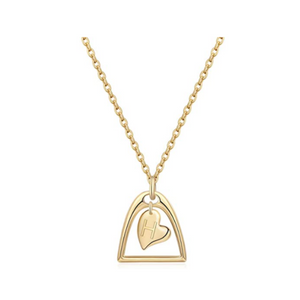 14k Gold Silver Plated Love Heart Necklaces (All ABC's)