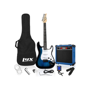 LyxPro 39 inch Electric Guitar Kit Bundle with 20w Amplifier, All Accessories